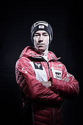 12.10.2019, Olympiahalle, Innsbruck, AUT, FIS Weltcup Ski Alpin, im Bild Stefan Kraft // during Outfitting of the Ski Austria Winter Collection and the official Austrian Ski Federation 2019/ 2020 Portrait Session at the Olympiahalle in Innsbruck, Austria on 2019/10/12. EXPA Pictures © 2020, PhotoCredit: EXPA/ JFK