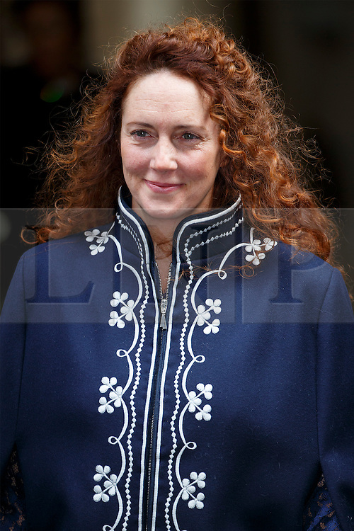 © Licensed to London News Pictures. 05/03/2016. London, UK. REBEKAH BROOKS leaving Rupert Murdoch and Jerry Hall's wedding ceremony at St Bride's Church in Fleet Street, London on Saturday, 5 March 2016. Photo credit: Tolga Akmen/LNP