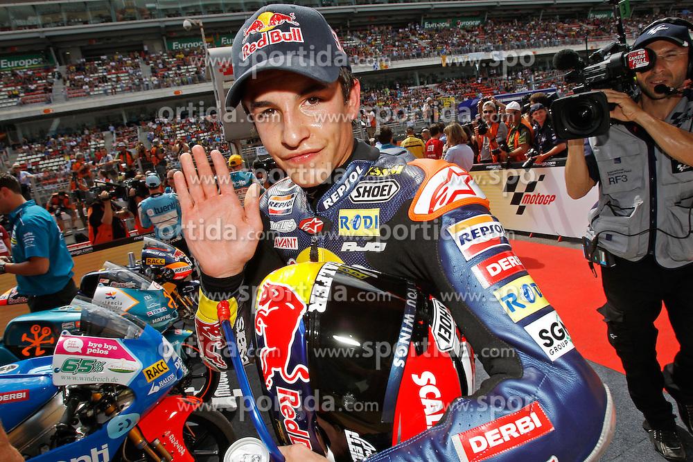 04.07.2010, Montmelo, Barcelona, ESP, MotoGP, Grand Prix von Katalonien im Bild Marc Marquez - Red bull Derbi team, EXPA Pictures © 2010, PhotoCredit: EXPA/ InsideFoto/ Semedia *** ATTENTION *** FOR AUSTRIA AND SLOVENIA USE ONLY! / SPORTIDA PHOTO AGENCY