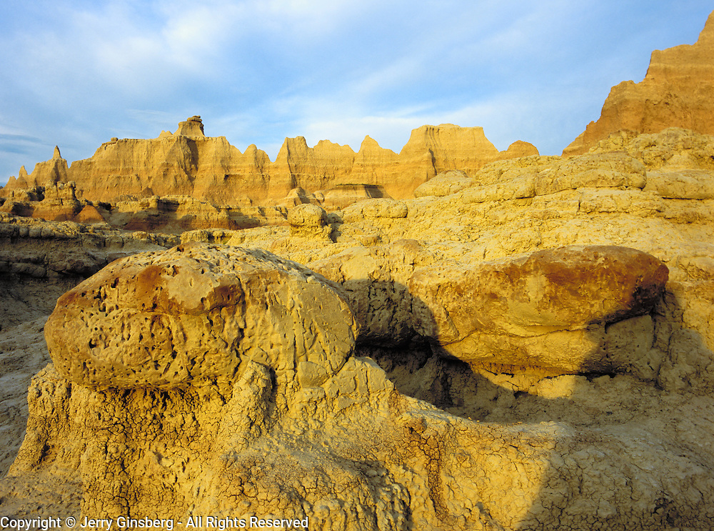 Door area is part of the rugged badlands of Badlands National Park, SD.