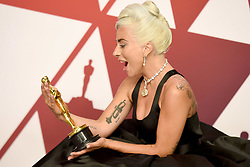 Lady Gaga, winner of Best Original Song for 'Shallow' from 'A Star is Born,' poses in the press room during the 91st Annual Academy Awards at Hollywood and Highland on February 24, 2019 in Los Angeles, CA, USA. Photo by Lionel Hahn/ABACAPRESS.COM