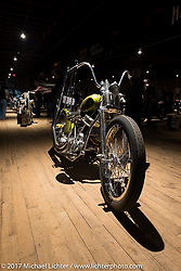 Jason Webber's custom 1951 Harley-Davidson Panhead from Anaheim, CA in the Mama Tried Bike Show. Milwaukee, WI, USA. Saturday, February 18, 2017. Photography ©2017 Michael Lichter.
