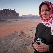 All rugged up, Wadi Rum, Jordan (December 2007)