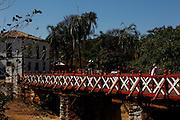 Pirenopolis_GO, Brasil.<br /> <br /> Ponte Velha sobre o rio das Almas em Pirenopolis, Goias.<br /> <br /> In first plan Ponte Velha over the Rio das Almas in Pirenopolis, Goias.<br /> <br /> Foto: MARCUS DESIMONI / NITRO