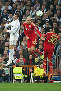 Champions League semi final second leg soccer match between Real Madrid and FC Bayern Munich at the Santiago Bernabeu stadium in Spain - <br /> MADRID 25/04/2012<br /> ESTADIO SANTIAGO BERNABEU.<br /> half final, Halbfinale, Semifinale,  CHAMPIONS LEAGUE<br /> REAL MADRID 2 - BAYERN 1<br /> picture: CRISTIANO RONALDO. ROBBEN.- fee liable image, copyright © ATP QUEEN INTERNACIONAL<br /> <br /> Real MADRID vs Fc BAYERN Match 2:1 und 3:1 im Elfmeterschieflen - and 3:1 in penalty shooting - Queen photographer Fernando ALVAREZ