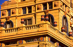 Stock photo of the architectural detail of the Niels Esperson Building in downtown Houston, Texas