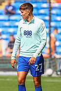 Cardiff City midfielder Rubin Colwill (27) during the pre-match warm-up at the EFL Sky Bet Championship match between Cardiff City and Bristol City at the Cardiff City Stadium, Cardiff, Wales on 28 August 2021.