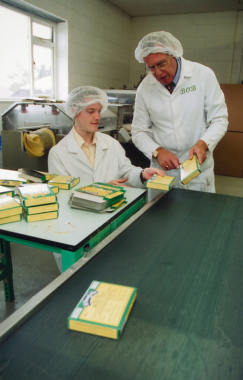 Trainees with learning difficulties learning packaging; Enham Business Andover