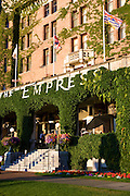 The historic Empress Hotel located on the Inner Harbour, Victoria, Vancouver Island, British Columbia, Canada.