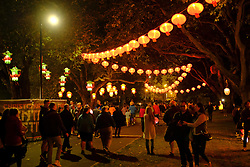 February 20, 2017 - Christchurch, New Zeland - The Christchurch Lantern Festival celebrate the Year of the Rooster in Hagley Park North, Christchurch, New Zealand, Sunday, Feb. 19, 2017. The Lantern Festival has been part of the Chinese New Year celebrations since the Han Dynasty (206BC - 221AD). Usually held on the 15th day of the first month of the lunar calendar, it marks the end of New Year festivities. (Credit Image: © Matias Delacroix/NurPhoto via ZUMA Press)