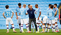 Football - 2019 / 2020 Premier League - Manchester City vs. Burnley<br /> <br /> Manchester City Manager Josep Guardiola at the Etihad Stadium. <br /> <br /> <br /> COLORSPORT/LYNNE CAMERON