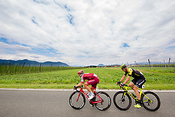 Marcel Kittel of Team Katusha Alpecin and Roger Kluge of Mitchelton Scott during 3rd Stage of 25th Tour de Slovenie 2018 cycling race between Slovenske Konjice and Celje (175,7 km), on June 15, 2018 in  Slovenia. Photo by Vid Ponikvar / Sportida