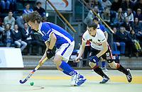 ROTTERDAM - Marnix Kleinsman  tijdens de  finale zaalhockey om het Nederlands kampioenschap tussen de  mannen van Amsterdam en Kampong. ANP KOEN SUYK