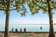 Balatonfured, Balaton, Hungary, August 2015. Balatonfüred is a popular resort town situated on the northern shore of Lake Balaton. It is considered to be the capital of the Northern lake shore and is a popular yachting destination.Lake Balaton is a freshwater lake in the Transdanubian region of Hungary. It is the largest lake in Central Europe and one of the region's foremost tourist destinations. The mountainous region of the northern shore is known both for its historic character and as a major wine region, while the flat southern shore is known for its resort towns. Photo by Frits Meyst / MeystPhoto.com