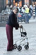 Zijne Majesteit Koning Willem-Alexander en Hare Majesteit Koningin Máxima houden de traditionele Nieuwjaarsontvangst voor Nederlandse genodigden in het Koninklijk Paleis Amsterdam met de aankomst van politici<br /> <br /> op de foto:    Jetta Klijnsma Staatssecretaris van Sociale Zaken en Werkgelegenheid