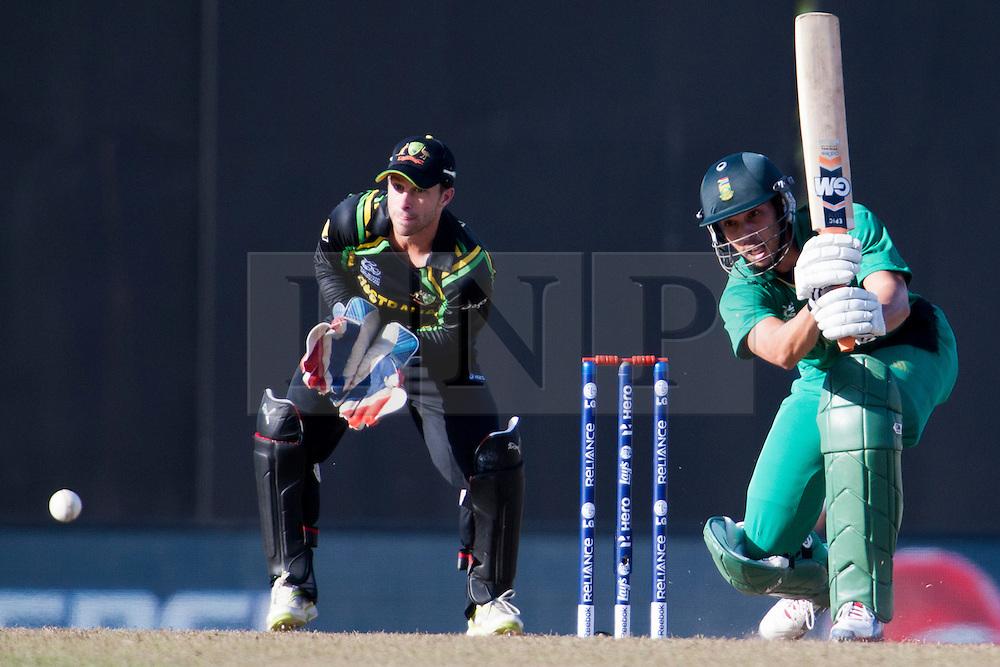 © Licensed to London News Pictures. 30/09/2012. South African batsmen Farhaan Behardien batting during the T20 Cricket World super 8's match between Australia Vs South Africa at the R Premadasa International Cricket Stadium, Colombo. Photo credit : Asanka Brendon Ratnayake/LNP