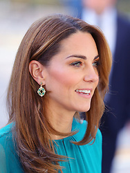 The Duchess of Cambridge arrives to attend a special event hosted by the Aga Khan ahead of their official visit to Pakistan, at the Aga Khan Centre in King's Cross, London.