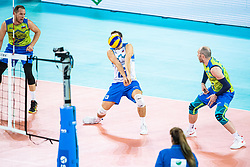 Kovacic Jani of Slovenia receiving ball during friendly volleyball match between Slovenia and Serbia in Arena Stozice on 2nd of September, 2019, Ljubljana, Slovenia. Photo by Grega Valancic / Sportida