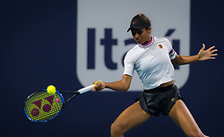 March 22, 2019 - Miami, FLORIDA, USA - Whitney Osuigwe of the United States in action during the second-round at the 2019 Miami Open WTA Premier Mandatory tennis tournament (Credit Image: © AFP7 via ZUMA Wire)