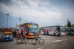 Team busses during Stage 1 of 24th Tour of Slovenia 2017 / Tour de Slovenie from Koper to Kocevje (159,4 km) cycling race on June 15, 2017 in Slovenia. Photo by Vid Ponikvar / Sportida
