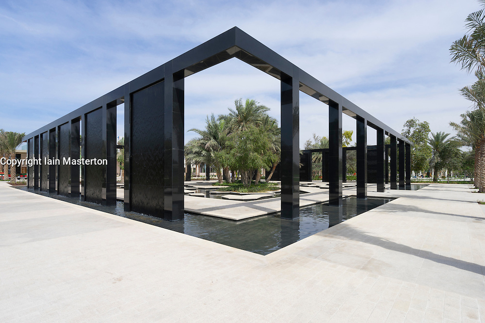 The Wisdom Garden at New Mushrif Central Park in Abu Dhabi United Arab Emirates