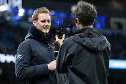 1st March 2017 - FA Cup - 5th Round (Replay) - Manchester City v Huddersfield Town - BBC Sport television (TV) presenter Dan Walker is filmed on an iPhone - Photo: Simon Stacpoole / Offside.