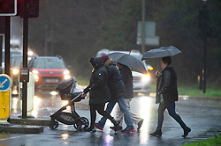 ©Licensed to London News Pictures 09/01/2020<br /> Orpington ,UK Wet weather for parents in Orpington, Kent as they collect their children from school. Heavy rain this afternoon as The Met Office has warned that downpours and strong winds will make driving conditions difficult. Photo credit: Grant Falvey/LNP