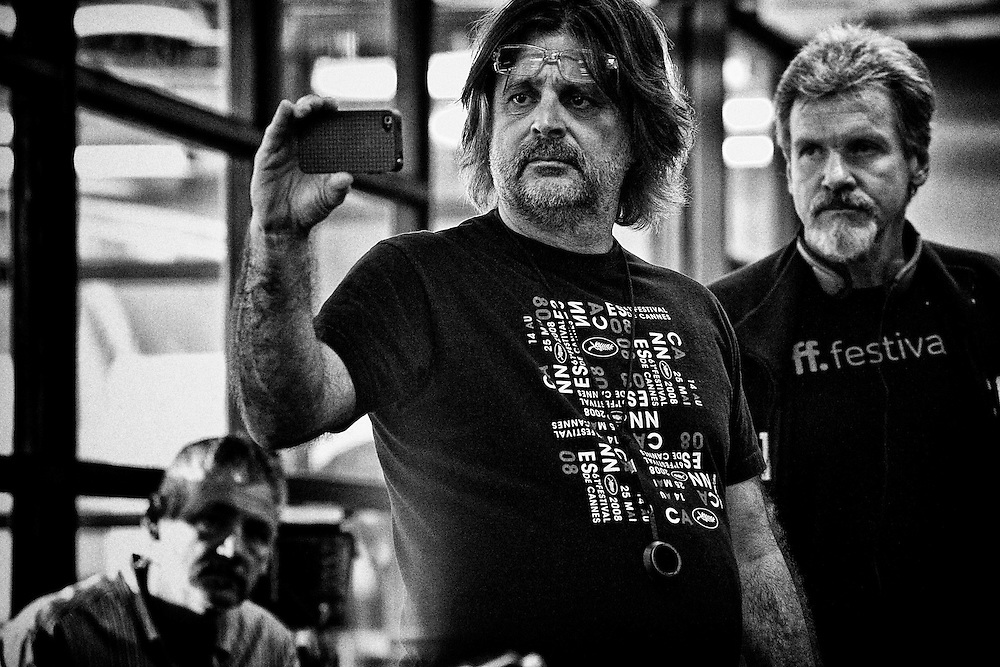 """Director of Photography James Chressanthis and Director John Gray on the set of TNT's """"Hide"""" in New Orleans, LA."""