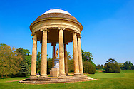 The rotunda of Venus (Aphrodite) in the English landscape gardens of Stowe, designed by Capability Brown. Buckingham, England .<br /> <br /> Visit our EARLY MODERN ERA HISTORICAL PLACES PHOTO COLLECTIONS for more photos to buy as wall art prints https://funkystock.photoshelter.com/gallery-collection/Modern-Era-Historic-Places-Art-Artefact-Antiquities-Picture-Images-of/C00002pOjgcLacqI