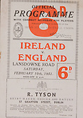 Rugby 1951-10/02 Five Nations Ireland Vs England