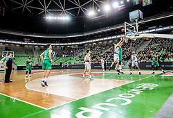 Action during basketball match between teams KK Cedevita Olimpija and Germani Brescia in Round #7 of EuroCup 2019/20, on November 19, 2019, in Arena Stozice, Ljubljana, Slovenia. Photo by Vid Ponikvar / Sportida