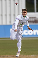 Mason Crane during Day 3 of the LV= Insurance County Championship match between Leicestershire County Cricket Club and Hampshire County Cricket Club at the Uptonsteel County Ground, Leicester, United Kingdom on 10 April 2021.