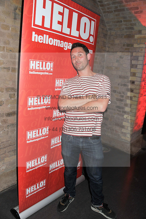 DJ BEN SIMMONS at a party hosted by the Hello! magazine advertising department to celebrate 25 years of Hello! Magazine held at the London Film Museum, Covent Garden,London on 9th May 2013.
