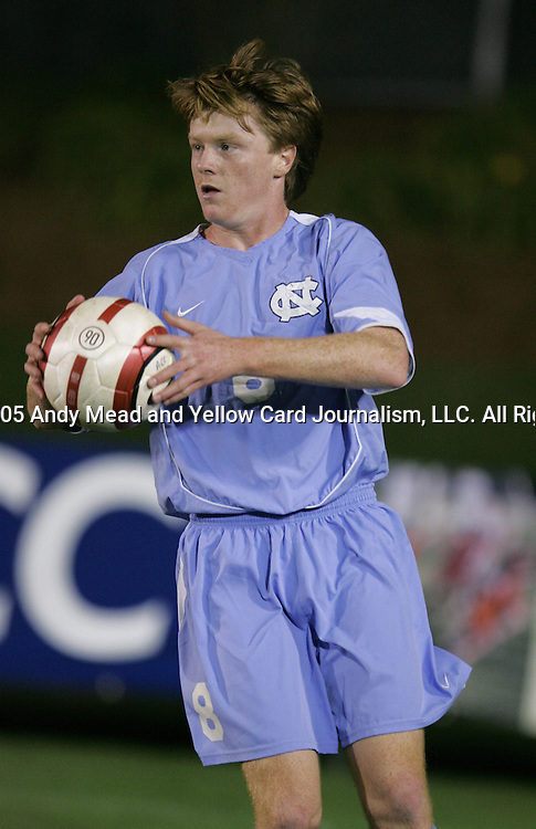 UNC's Dax McCarty on Wednesday, November 9th, 2005 at SAS Stadium in Cary, North Carolina. The University of North Carolina Tarheels defeated the North Carolina State University Wolfpack 1-0 during their Atlantic Coast Conference Tournament Quarterfinal game.