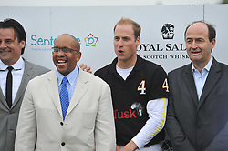 HRH the DUKE OF CAMBRIDGE and PRINCE SEEISO OF LESOTHO at the Sentebale Polo Cup held at Coworth Park, Berkshire on 12th June 2011.