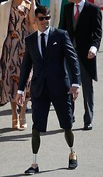 British parasport athlete Dave Henson arrives at Windsor Castle for the wedding of Prince Harry and Meghan Markle.