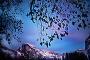 Half Dome on a winter evening in Yosemite National Park