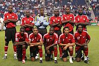 Fotball<br /> Lagbilde Trinidad og Tobago<br /> 10.09.2008<br /> Foto: imago/Digitalsport<br /> NORWAY ONLY<br /> <br /> Trinidad und Tobago, hi.v.li.: Makan Hislop, Cyd Gray, Torwart Marvin Phillip, Osei Telesfod, Aklie Edwards und Keyeno Thomas, vorn v.li.: Clyde Leon, Densill Theobald, Cornell Glen, Carlos Edwards und Keon Daniel