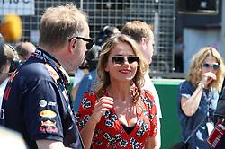 Geri Horner during the 2018 British Grand Prix at Silverstone Circuit, Towcester.
