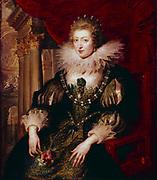 Anne of Austria (1601-1666) married Louis XIII of France 1615.  Mother of ouis XIV.  Peter Paul Rubens (1577-1640) Flemish artist.   Louvre, Paris.