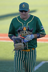 29 July 2017: Mitchell Jay Williams during a Legends Baseball game sponsored by the Normal CornBelters at Corn Crib Stadium on the campus of Heartland Community College in Normal Illinois