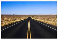 A road through The Glen Canyon National Recreation Area at Lake Powell, Page Arizona, USA