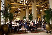 Guests enjoy high tea at the Peninsula Hotel, Hong Kong, China