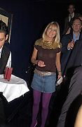 Jubie Balfour, Tatler magazine Little Black Book party, Tramp. Jermyn St. 10 November 2004. ONE TIME USE ONLY - DO NOT ARCHIVE  © Copyright Photograph by Dafydd Jones 66 Stockwell Park Rd. London SW9 0DA Tel 020 7733 0108 www.dafjones.com