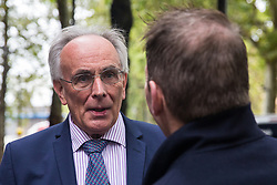 """London, UK. 25 September, 2019. Peter Bone, pro-Brexit Conservative MP for Wellingborough, walks towards Parliament on the day after the Supreme Court ruled that the Prime Minister's decision to suspend parliament was """"unlawful, void and of no effect"""". Credit: Mark Kerrison/Alamy Live News"""