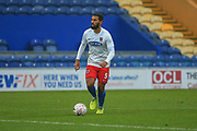 Luke Croll (5) of Dagenham & Redbridge on the ball during the The FA Cup match between Mansfield Town and Dagenham and Redbridge at the One Call Stadium, Mansfield, England on 29 November 2020.