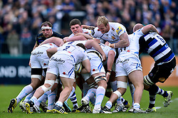 Exeter maul the ball forward - Mandatory byline: Patrick Khachfe/JMP - 07966 386802 - 17/10/2015 - RUGBY UNION - The Recreation Ground - Bath, England - Bath Rugby v Exeter Chiefs - Aviva Premiership.