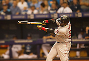 MLB: SEP 12 Red Sox at Rays.  David Ortiz of the Red Sox, Hits his 499th Home Run in the First Inning.