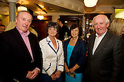 """19/7/2011.   Derrick Murphy, with Mary Kavanagh, Taylor's Hill, Anne Murphy Chestnut lane, and Des Kavanagh, Taylor's Hill in McSwiggans for the pre show reception of Propellors """"Comedy of Errors"""" by Shakspeare in the Galway Arts Festival, sponsored by Ulster Bank. Photo:Andrew Downes"""