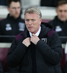 24 November 2017 London : Premier League Football : West Ham United v Leicester City - West Ham manager David Moyes looking anxious.<br /> (photo by Mark Leech)